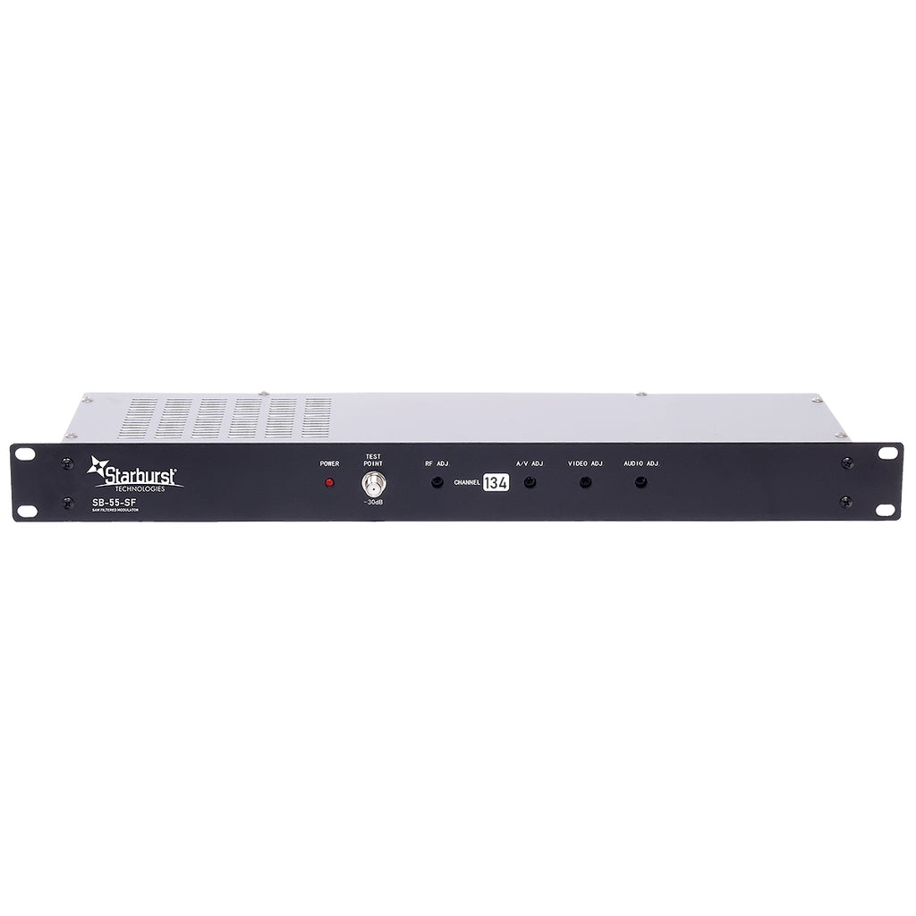 SB-55-SF Analog 55dBmV SAW Filtered CATV Modulator Available In Channels 2-134