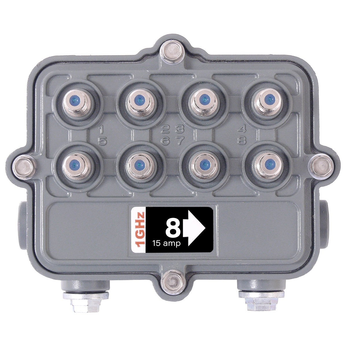 SB-8/08G/SR 1GHz Outdoor Hardline Multitap 8 Way 8dB