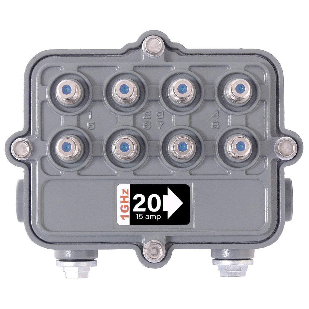 SB-8/20G/SR 1GHz Outdoor Hardline Multitap 8 Way 20dB