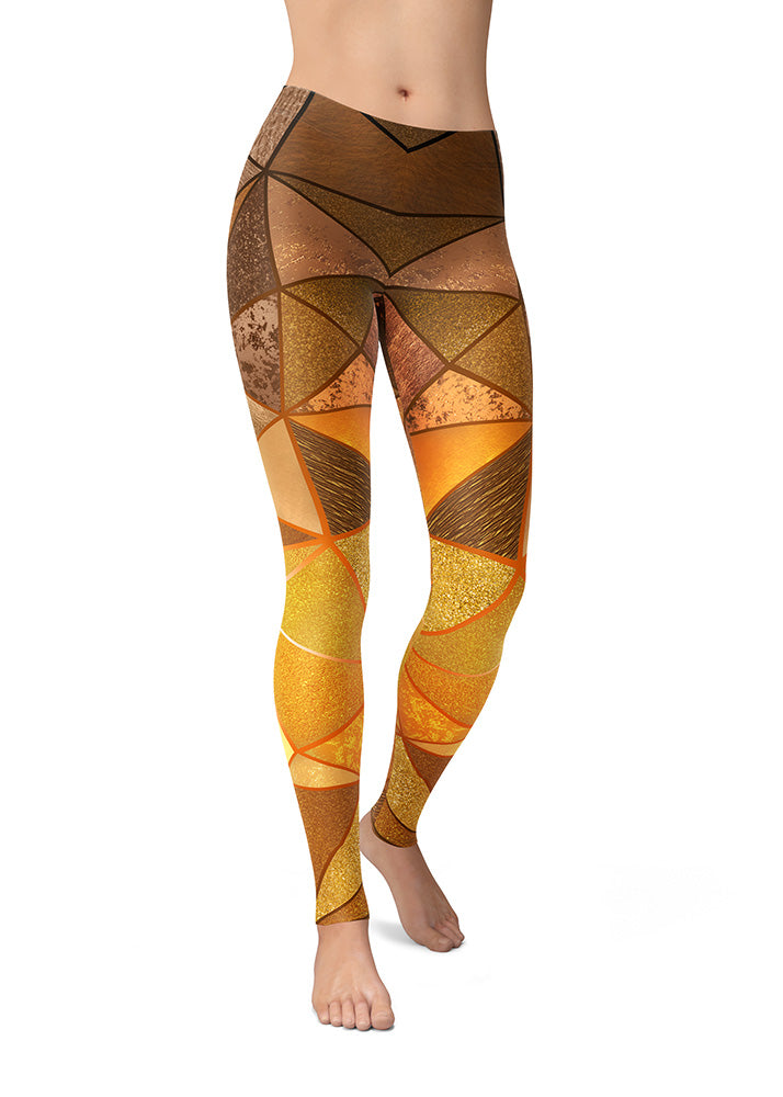 Golden Texture Leggings