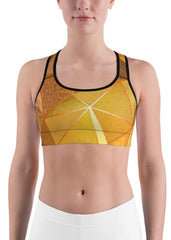 Golden Texture Sports Bra