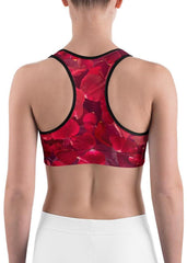 Rose Petals Cover Sports Bra