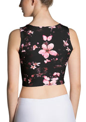 Butterfly Sakuras Crop Top