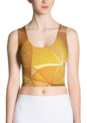 Golden Texture Crop Top