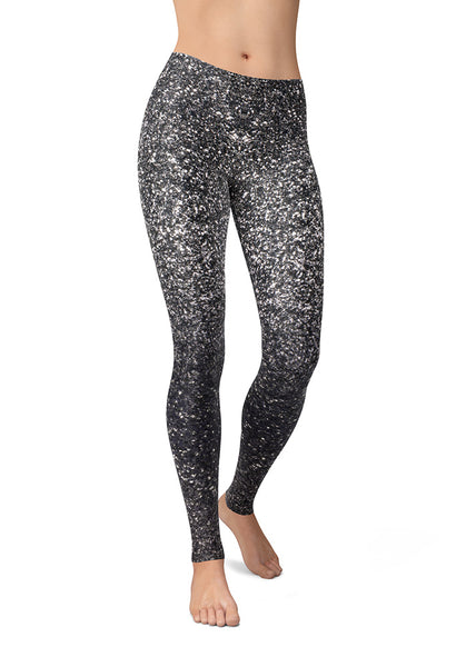 Silver Glitter Leggings