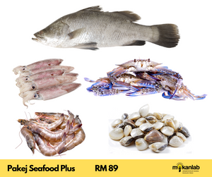 Pakej Seafood Plus - 5 items - [SIANG & BASUH]
