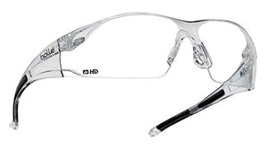 Bolle Safety Rush Safety Glasses Clear Frame, Clear Lenses