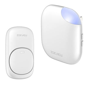 ZOEVIEW Model MN Wireless Doorbell Waterproof Door Chime Kit, 1 Push Button and 1 Plug-in Receiver