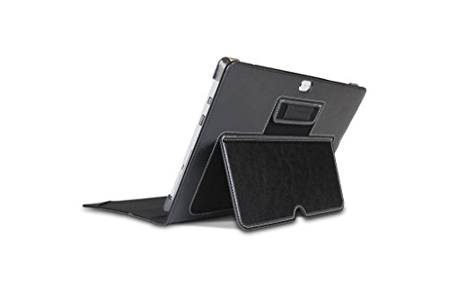 Maroo Microsoft Surface 3 Executive Case - Premium Black Leather, Compatible with Microsoft Type Cover for Surface 3, Stylus Holder, Kickstand