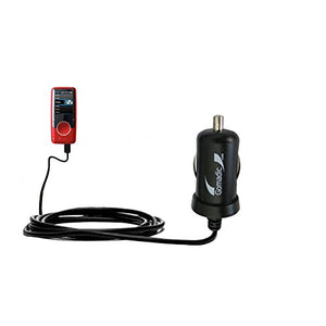 Gomadic Intelligent Compact Car/Auto DC Charger Suitable for The Coby MP707 Video MP3 Player - 2A / 10W Power at Half The Size. Uses Gomadic TipExchange Technology