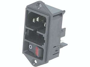 Power Entry Connector, DD11 Series, Plug, 250 VAC, 10 A, Panel Mount, Quick Connect