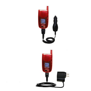 Gomadic Car and Wall Charger Essential Kit Suitable for The Sanyo PM-8200 / PM 8200 - Includes Both AC Wall and DC Car Charging Options with TipExchange