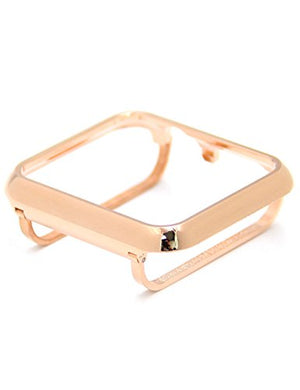 Callancity metal Rose Gold case face cover bezel compatible with Apple Watch series 3 2 1 42mm