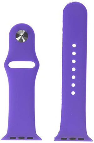 iPM Soft Silicone Replacement Sports Band for Apple Watch - 38mm - Purple