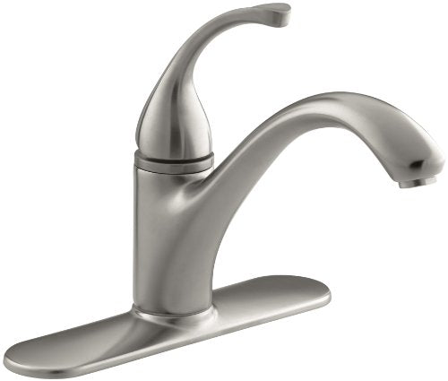 "Kohler 10411 Vs Fortã©(R) 3 Hole Sink 9 1/16"" Spout Kitchen Faucet, Vibrant Stainless"