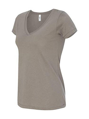 Next Level Womens Ideal V-Neck Tee (N1540) Warm Gray s