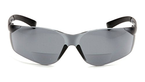 Pyramex Ztek Readers Bifocal Safety Glasses Eye Protection, Gray Lens, 2.0 Diopters