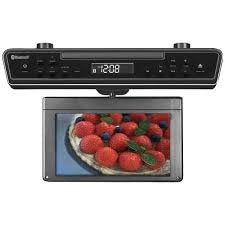 Sylvania Skcr2706 Bt 10.2 Under Counter Bluetooth Kitchen Tv With Built In Dvd Player & Hdmi