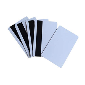 YARONGTECH Blank White PVC Hico 1-3 Magnetic Stripe Plastic Credit Card 30Mil Magnetic Card with Protective Fill 100pcs