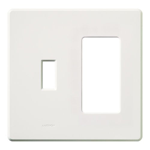 Lutron FG-2-TD-WH Electrical Distribution Wall Plate White