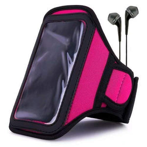 Van Goddy Magenta Water Resistant Sports Armband With Extender For Lenovo A Plus, Vibe, S With Headph