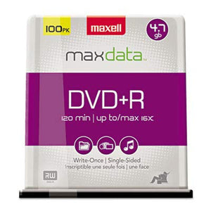 MAX639016 United STATIONERS (OP) DISC,DVD+R,100PK SPNL