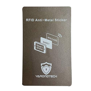 YARONGTECH RFID Anti-Metal Sticker,Stick on RFID Card Read On Metal Cell Phone Work (Grey-1pc)