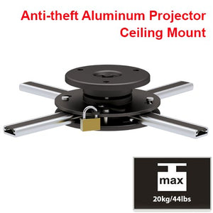 Cmple   Slim Adjustable Aluminium Ceiling Mount With Anti Theft For Projector With Max Weight 44 Lbs