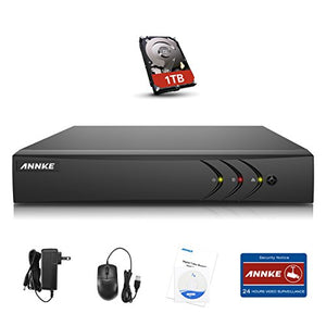 Annke 16CH 1080P Lite DVR 5-in-1 Security DVR Recorder with 1TB Hard Drive, HDMI/VGA Quck QR Code Scan Easy Remote Access Motion Detection &Eamil Alerts