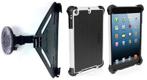 SlipGrip Car Holder for Apple iPad Air Tablet Using Ballistic Tough Jacket HC Rugged Hard Case