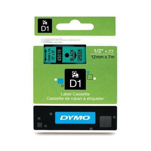 Dymo D1 45019 Tape, Black/Green