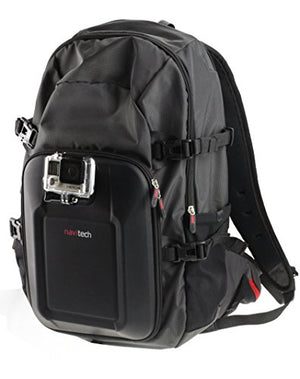 Navitech Action Camera Backpack With Integrated Chest Strap Compatible With The Campark ACT74 Sport