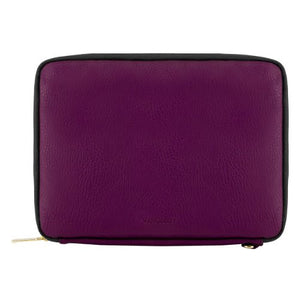 VanGoddy Purple Black Travel Cover Sleeve Carrying Case for Kobo Clara HD, Aura H2O Edition 2, One, H2O, Edition 2
