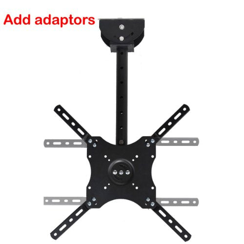 "VideoSecu Adjustable Ceiling TV Mount Fits Most 26-65"" LCD LED Plasma Monitor Flat Panel Screen Display with VESA 400x400 400x300 400x200 300x300 300x200 200x200mm MLCE7N 1JS"