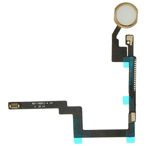 Flex Cable (Home Button) for Apple iPad Mini 3 (White & Gold) with Glue Card