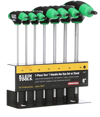 TORX T-Handle Hex Key Set and Stand, 6-Inch, 7-Piece Klein Tools JTH67T