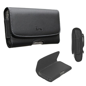 [Tman] Tm Xl Size Leather Holster Carry Pouch Case For Htc Desire 526 (Fits The Phone With Otter Box