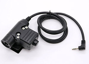 WishRing Z-Tactical U94 PTT Military Adapter PTT for Motorola Radio 2.5MM T5200 6200C