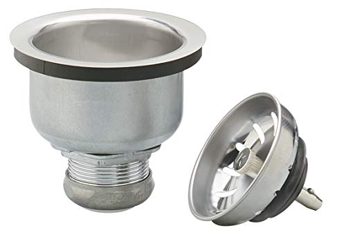 Keeney 1434SS Deep Cup Sink Strainer with Power Ball Basket, Stainless Steel