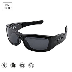 CAMAKT Bluetooth Sunglasses Camera, Full HD 1080P Digital Camera Video Recording Polarized Glasses for Sport