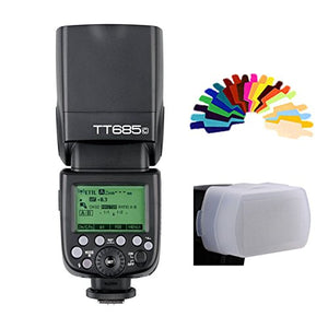 Thinklite TTL TT685C Camera Flash 2.4GHz High Speed 1/8000s GN60 for Canon EOS DSLR E-TTL II Autoflash (TT685C)