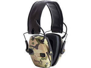 Howard Leight by Honeywell Impact Sport Sound Amplification Electronic Shooting Earmuff, MultiCam (R-02526)