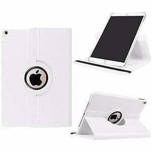 Universal 7 inch 360 Degree Rotation Leather Tablet Case (WHITE)