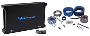 Rockville dB14 4000 Watt/2000w RMS Mono Class D 2Ohm Car Audio Amplifier+Amp Kit