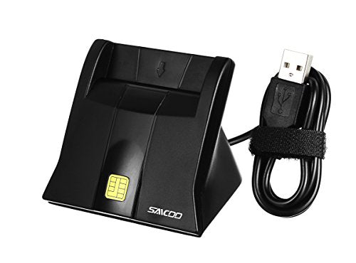 Saicoo DOD Military USB Common Access CAC Smart Card Reader, Compatible with Mac Os, Win (Vertical Version)