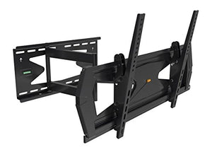 Black Full-Motion Tilt/Swivel Wall Mount Bracket with Anti-Theft Feature for Samsung UN60HU8500A 60