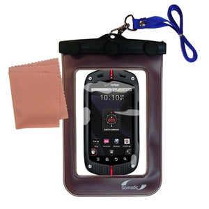 Gomadic Outdoor Waterproof Carrying case Suitable for The Casio GzOne Commando to use Underwater - Keeps Device Clean and Dry