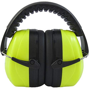 JORESTECH Safety Earmuffs Lime Adjustable Headband Noise Reduction for Construction Shooting Hunting Sports NRR 27dB SNR 31dB EM-502