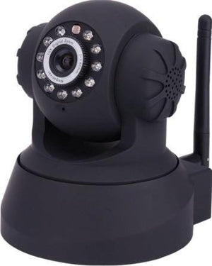IP Camera WiFi Pan & Tilt IP/Network Camera with Two-Way Audio and Night Vision (Black)