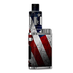 Skin Decal Vinyl Wrap For ELeaf IStick Pico 75w TC Vape Mod / American Flag Distressed